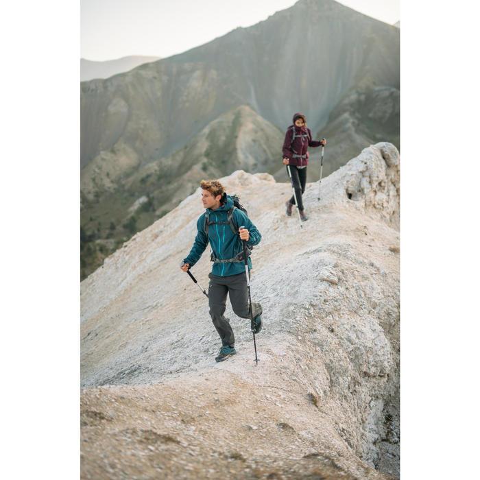 Regenjas MH 500 voor bergwandelen, voor heren, donkerblauw