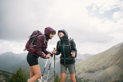 Short de Montaña y Trekking Quechua MH500 Mujer Caqui