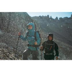 Wanderjacke Bergwandern MH500 wasserdicht Damen grau/blau