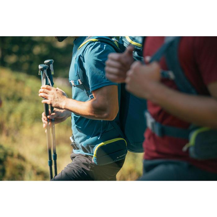 男款登山健行短袖T恤MH100-淺碧藍色