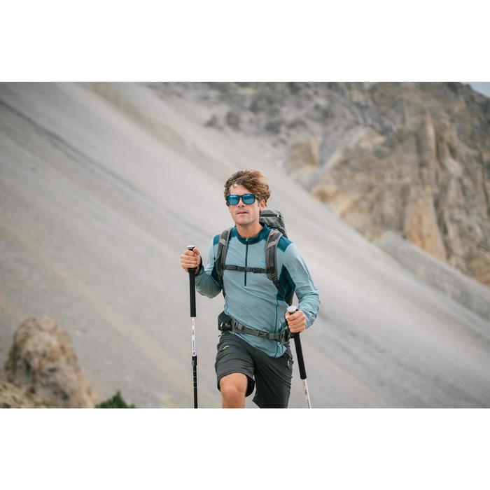 Lange trekkingshort voor bergwandelen MH500 heren zwart