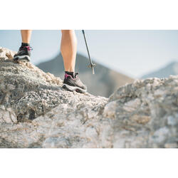 Wanderschuhe Bergwandern MH500 wasserdicht Damen korallenrot