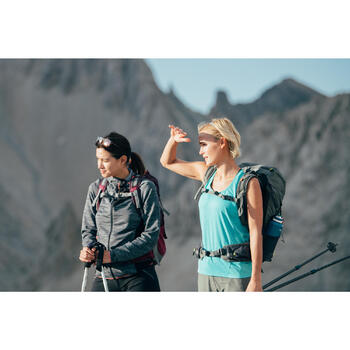 Fleecejacke Bergwandern MH900 Damen grün meliert
