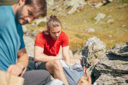 Short MH100 Hombre Azul Montaña/Trekking Quechua