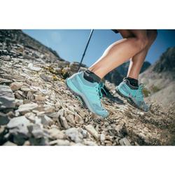 Botas de senderismo montaña mujer MH500 Azul turquesa