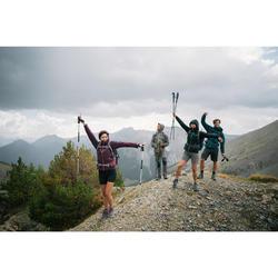Chaqueta impermeable de senderismo montaña mujer MH500 Ciruela