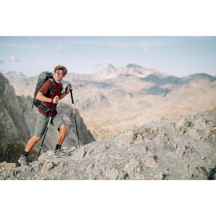 Wanderschuhe Bergwandern MH500 Mid wasserdicht Herren grau
