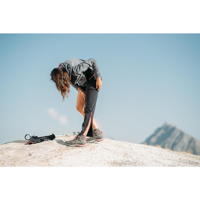 Afritsbroek MH550 voor bergwandelen dames zwart