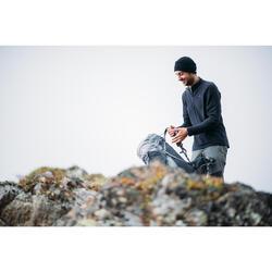 Forro polar de senderismo en montaña hombre MH500 Negro