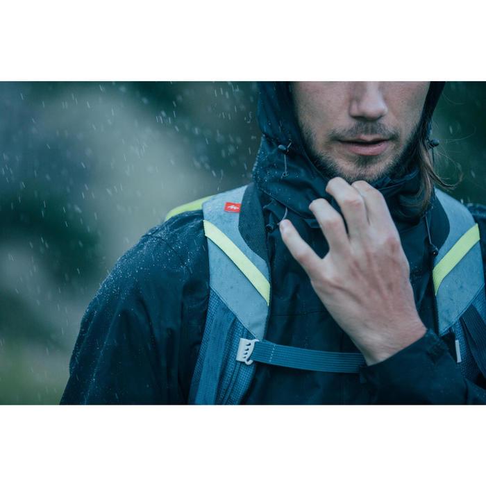 Chaqueta lluvia Senderismo en la montaña MH100 impermeable hombre Negro