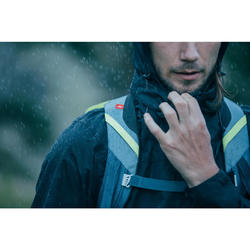 男款登山健行防雨外套MH100-黑色