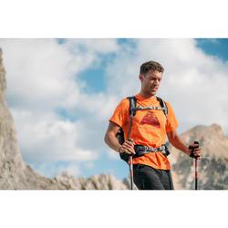 Wandershirt Bergwandern MH500 Herren orange/print