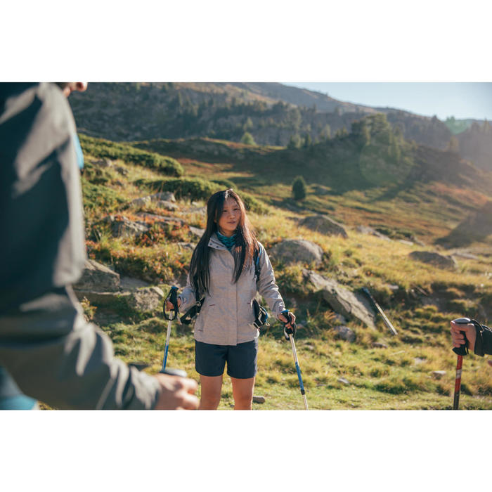 Pantalón Corto Short de Montaña y Trekking Quechua MH100 Mujer Gris oscuro