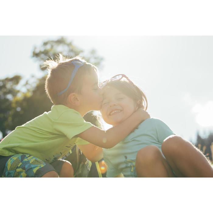T-Shirt Wandern MH100 Kinder Jungen orange