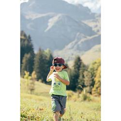 T-shirt de randonnée enfant MH100 bleu turquoise