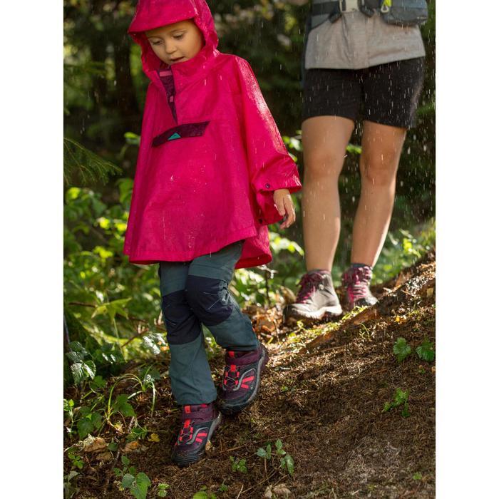 Wanderschuhe Crossrock Klettverschluss wasserdicht Kinder lila
