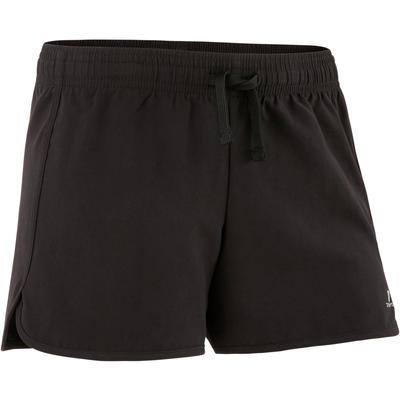 descuento especial de disfrute del envío de cortesía estilo exquisito Pantalón Corto Chándal Short Gimnasia Domyos W500 Niña Negro