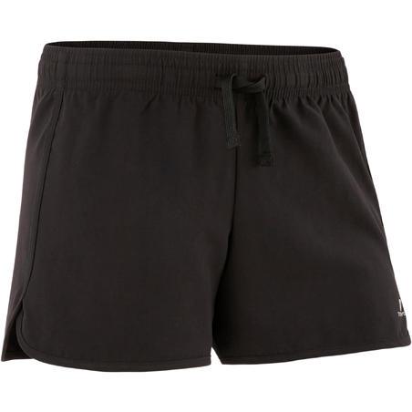 Short respirant gym enfantW500 noir– Fille