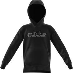 Jongens hoodie voor gym zwart met logo op de borst