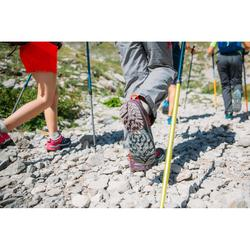 Lage bergwandelschoenen met veters voor meisjes Crossrock blauw/roze