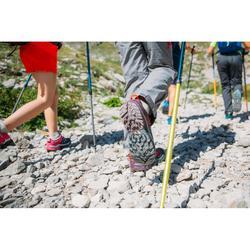 Lage bergwandelschoenen met veters voor meisjes Crossrock turquoise