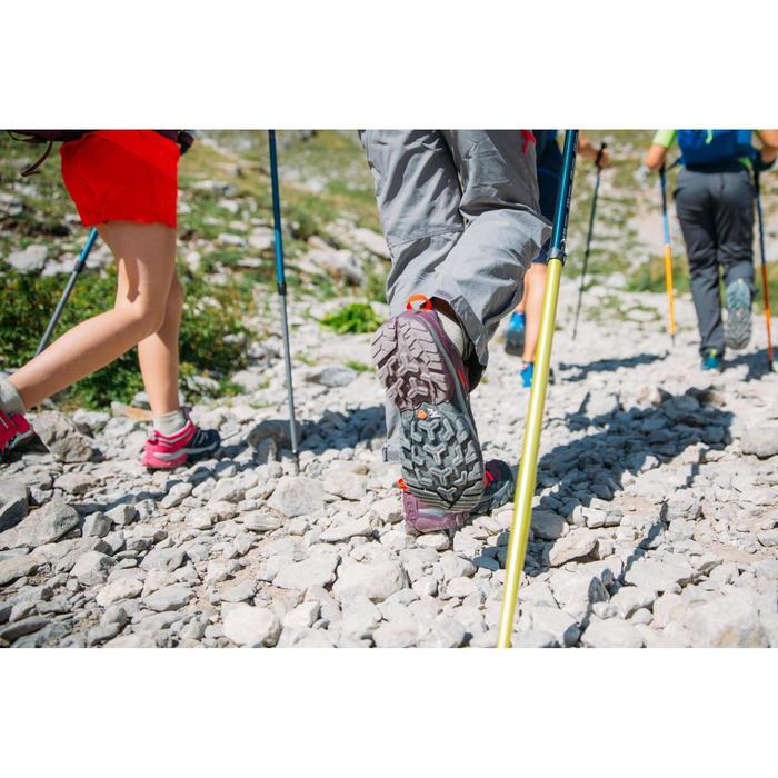 Wanderschuhe Crossrock Low mit Schnürung Kinder Mädchen türkis
