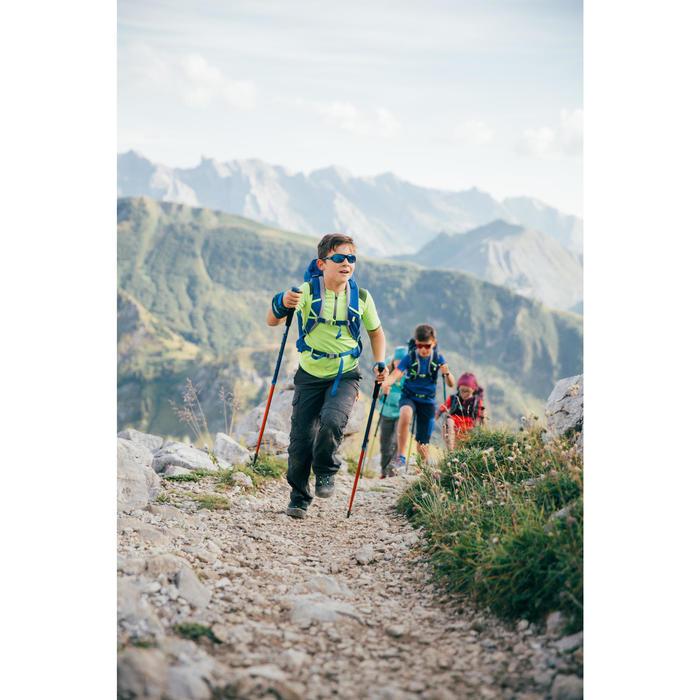 Camiseta Manga Corta de Montaña y Trekking Forclaz MH550 Niños Turquesa