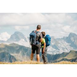 Pantalón desmontable de Montaña y Trekking Niños 7-15 años MH550 verde oscuro