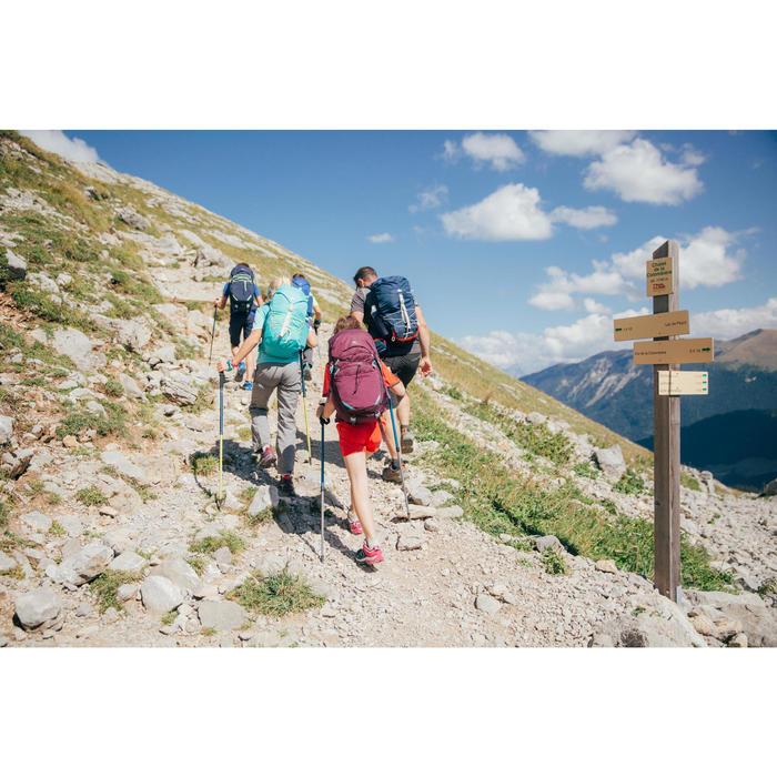 Wanderschuhe Crossrock Schnürung Kinder Mädchen Gr. 35-38 blau/rosa