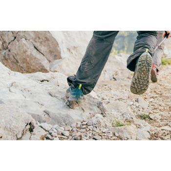 兒童款綁帶防水健行鞋CROSSROCK-綠色