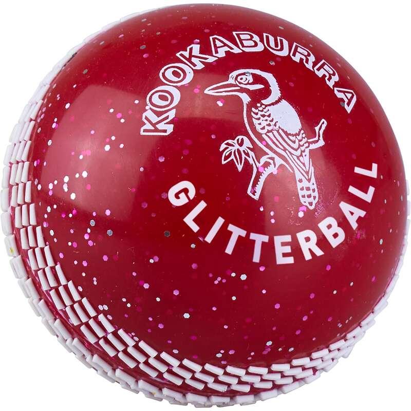 LEATHER BALL ALL PLAYER SHOES ADULT Cricket - Kookaburra Glitterball Red KOOKABURRA - Cricket Equipment