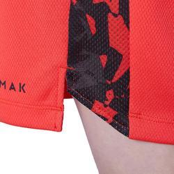 兒童款中階籃球短褲SH500-紅色
