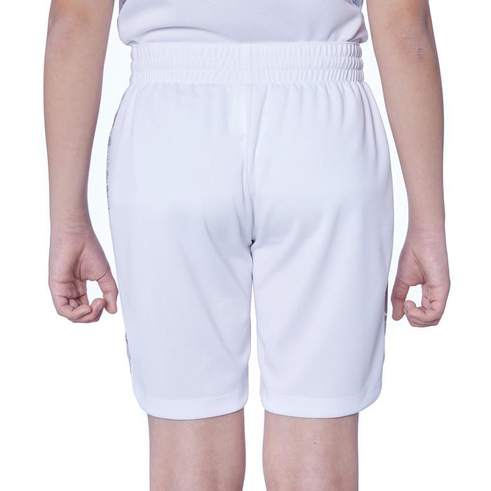 兒童款中階籃球短褲SH500-白色/灰色