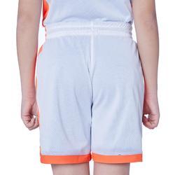 SH500R Boys'/Girls' Intermediate Basketball Reversible Shorts Blue/White/Orange