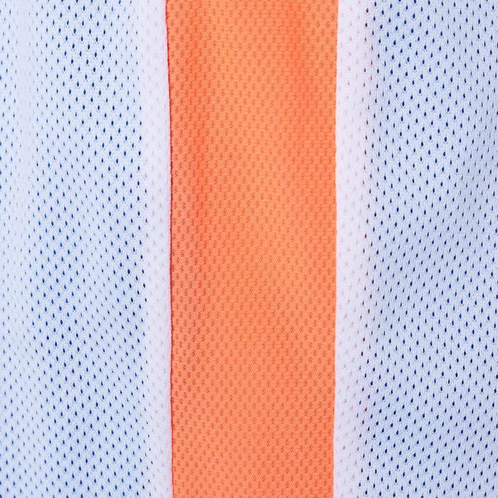 Pantalón Reversible Baloncesto Tarmak SH500R Niños Corto Azul Blanco