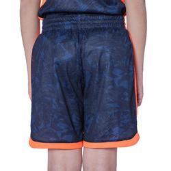 SH500R Boys'/Girls' Intermediate Basketball Reversible Shorts - Grey/Navy Print