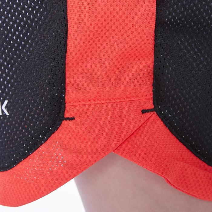 Omkeerbare basketbalshort voor jongens/meisjes wit/zwart/print SH500R