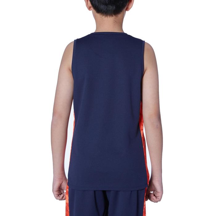Basketbalshirt voor gevorderde jongens/meisjes marineblauw oranje T500