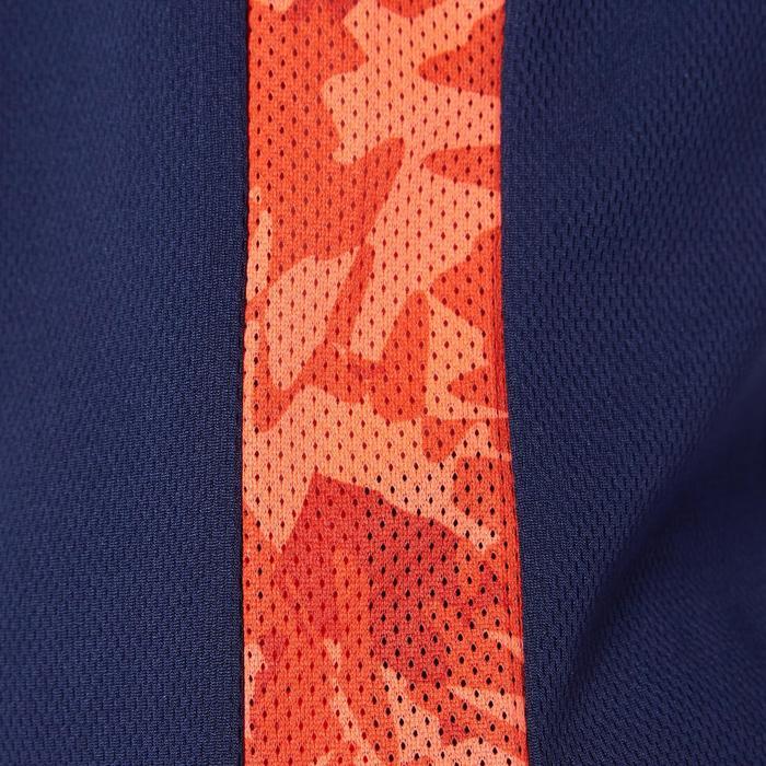 Basketballtrikot T500 Kinder blau/orange