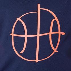 MAILLOT DE BASKETBALL POUR GARCON/FILLE CONFIRME(E) NAVY ORANGE T500