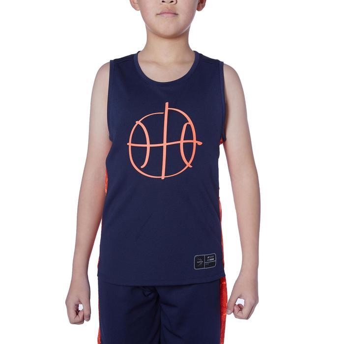Camiseta Baloncesto Tarmak T500 Niños Sin Mangas Azul Rojo