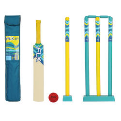 JUNIOR CRICKET SET SIZE 3 LYON BLUE
