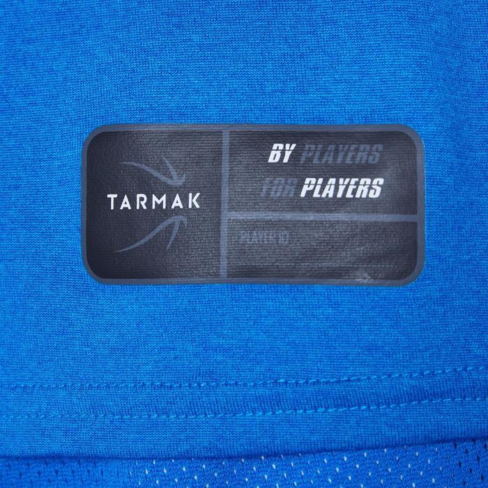 T-SHIRT DE BASKETBALL POUR GARCON/FILLE CONFIRME(E) BLEU PLAYGROUND TS500