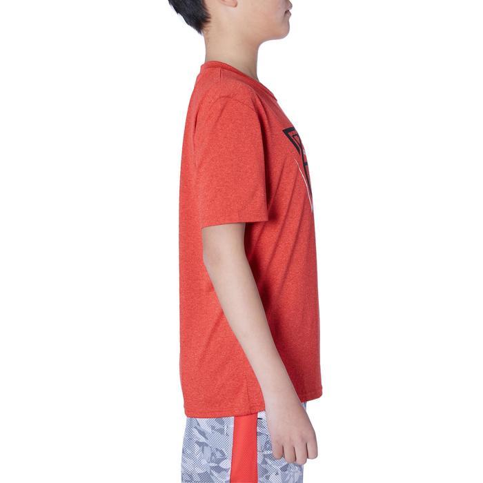 Camiseta Baloncesto Tarmak TS500 Niños Manga Corta Rojo