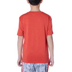 TS500 Boys'/Girls' T-Shirt Basket untuk Pemain Kelas Menengah - Merah/Segitiga