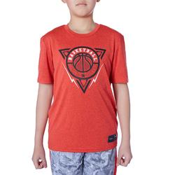 T-SHIRT DE BASKETBALL POUR GARCON/FILLE CONFIRME(E) ROUGE BBL TRIANGLE TS500