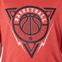 Girls'/Boys' Basketball T-Shirt / Jersey TS500 - Red BBL Triangle