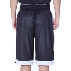 雙面中階籃球短褲-深灰色/黑色