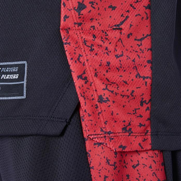 Basketbaltank voor heren T500 zwart/rood