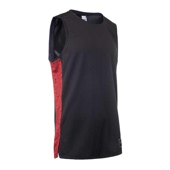 a50bc73cfd6 Basketball T500 Intermediate Sleeveless Basketball Jersey - Black ...